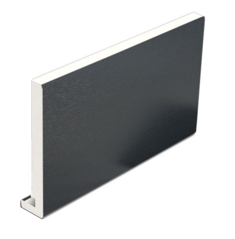 Anthracite Grey Full Replacement Fascia Board 225mm x 5m x 18mm Thickness  Subtle Grained