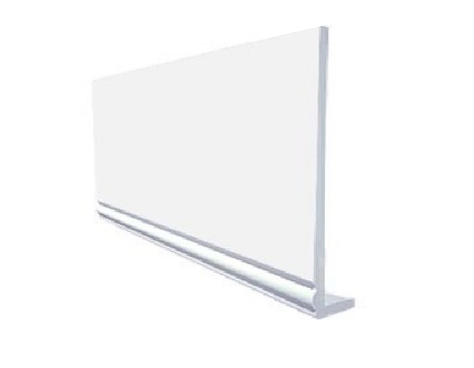 White Cover Over Ogee Edge Fascia Board
