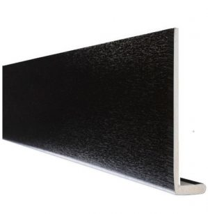 Black Ash Square Edge Cover Over Fascia Board 10mm Thickness Subtle Grained