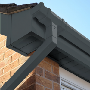 Anthracite Grey Square Edge Cover Over Fascia Board 10mm Thickness