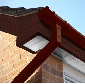 Mahogany Square Edge Cover Over Fascia Board 10mm Thickness
