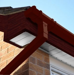 Rosewood Square Edge Cover Over Fascia Board 10mm Thickness