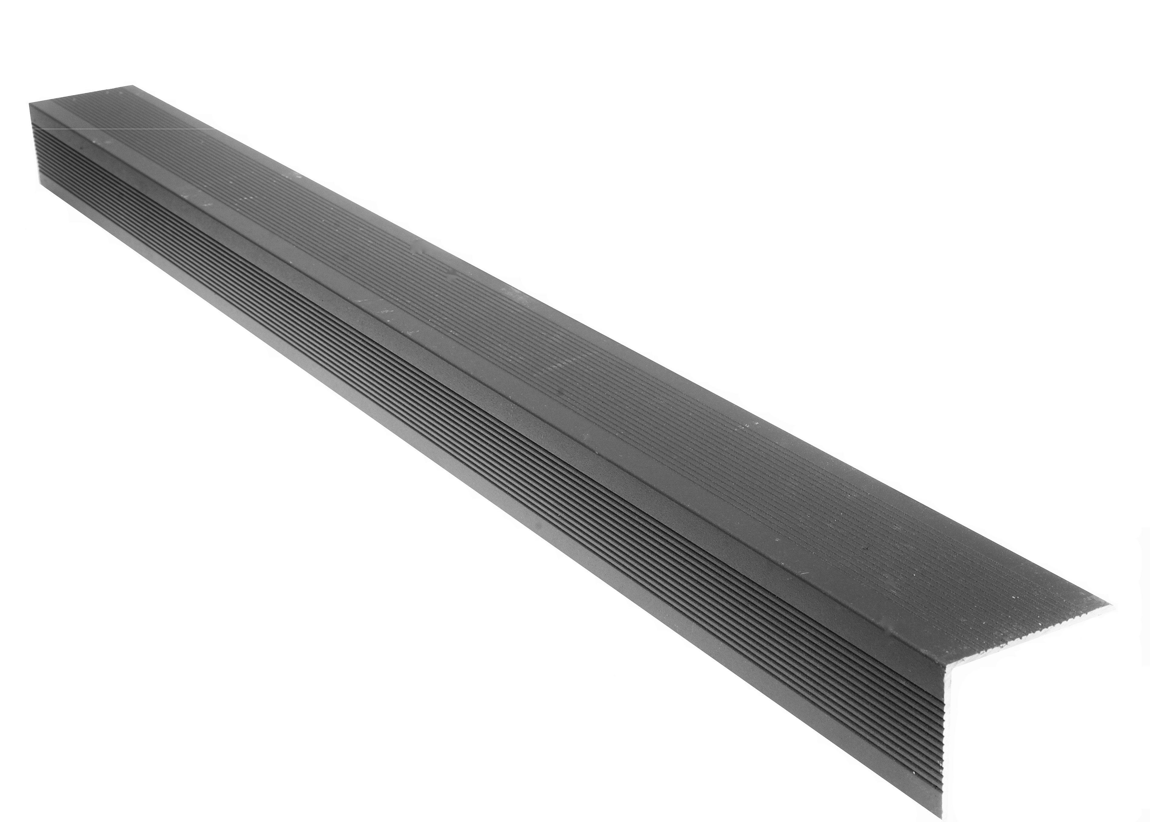 Ancient Black Composite Decking Aluminium Edge Trim 3