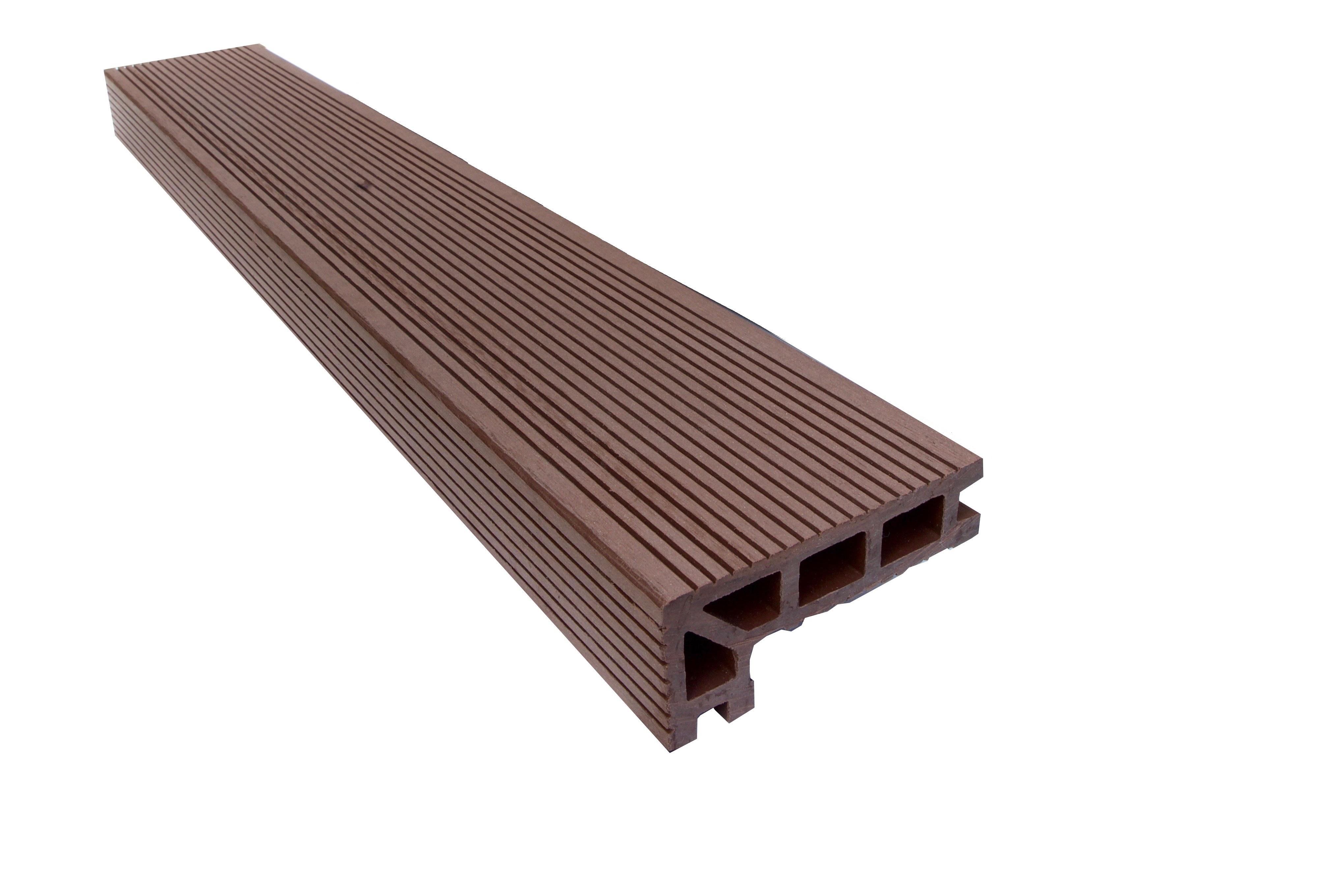 Pecan Brown Composite Decking Step Edge Trim 3 660m