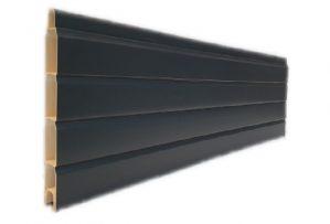 Anthracite Grey Subtle Grained Pvc Composite Fencing