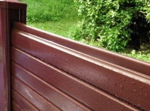 Brown Vinyl Upvc Fencing