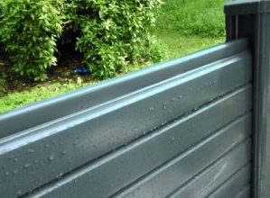 Carbon Grey Pvc Composite Fencing